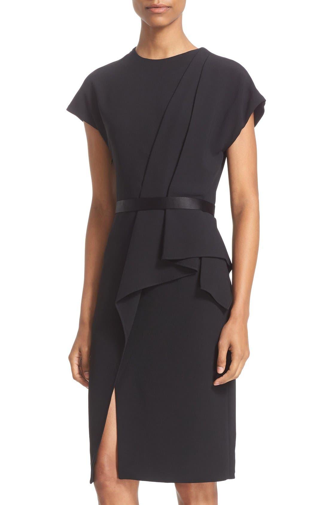 Alternate Image 6  - Alexander Wang Belted Drape Detail Pencil Dress