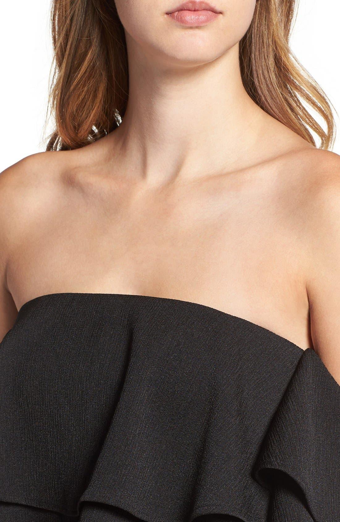 Alternate Image 5  - Keepsake the Label 'Two Fold' Off the Shoulder Minidress