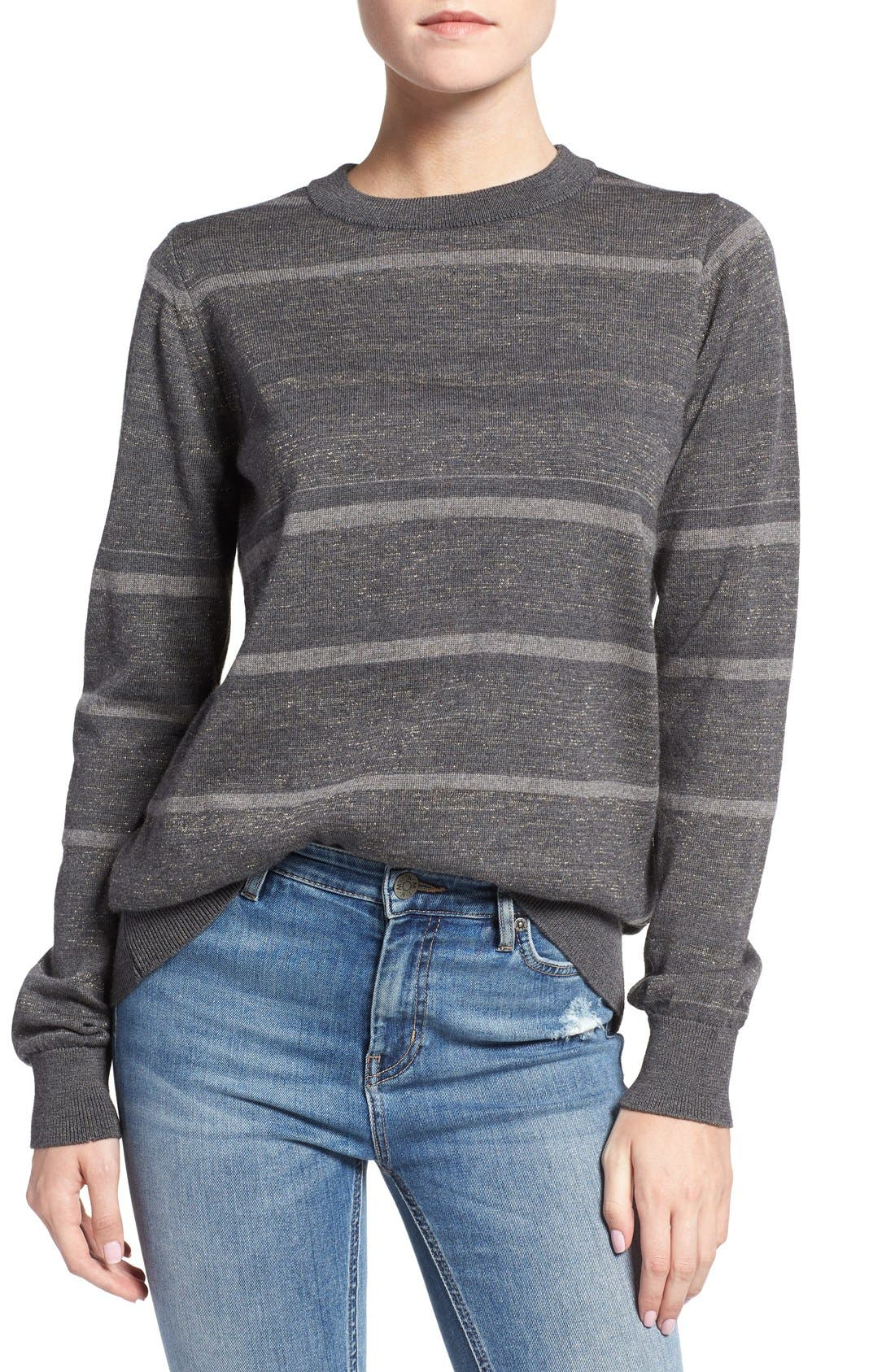 Main Image - M.i.h. Jeans 'Falls' Metallic Stripe Merino Wool Sweater