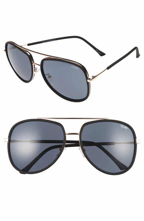 Quay Australia 'Needing Fame' 65mm Aviator Sunglasses