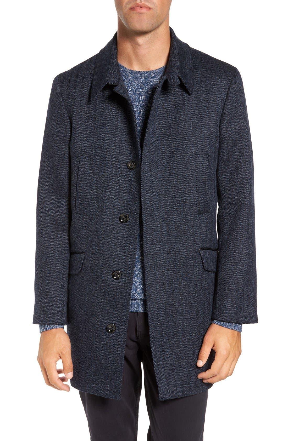 Rodd & Gunn 'Garlands' Herringbone Wool Tweed Overcoat