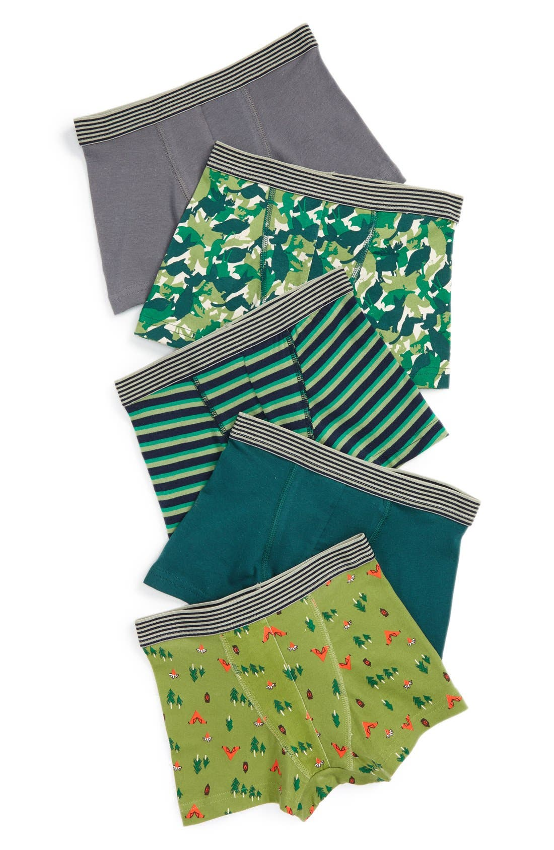 Main Image - Tucker + Tate Briefs (5-Pack) (Toddler Boys, Little Boys & Big Boys)