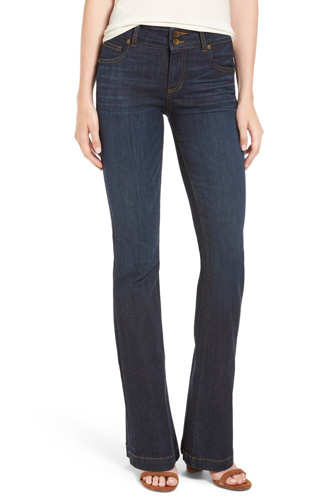 Alternate Image 1 Selected - KUT from the Kloth 'Chrissy' Flare Leg Jeans (Brightness)