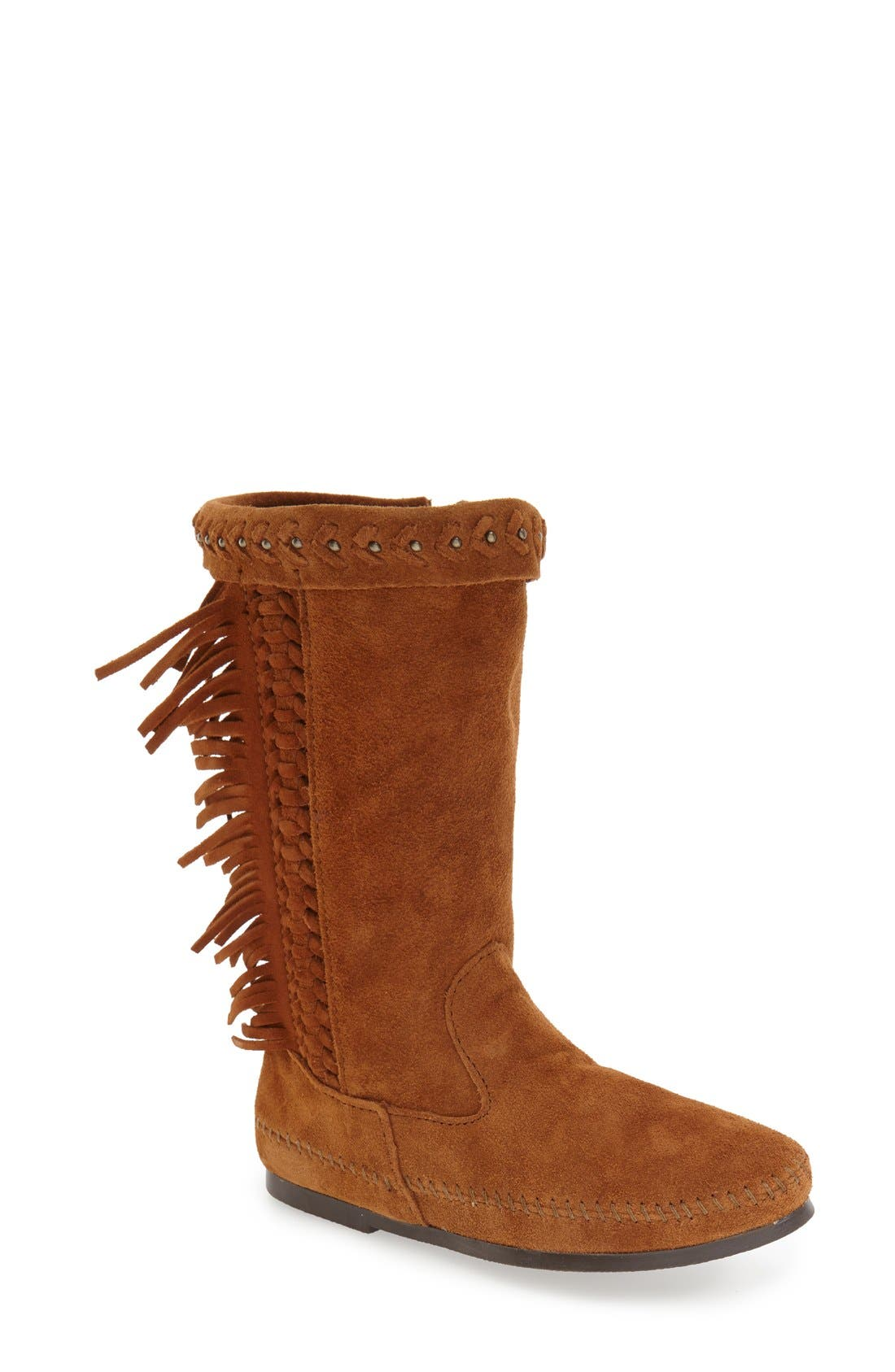 Minnetonka 'Luna' Fringe Boot (Women)