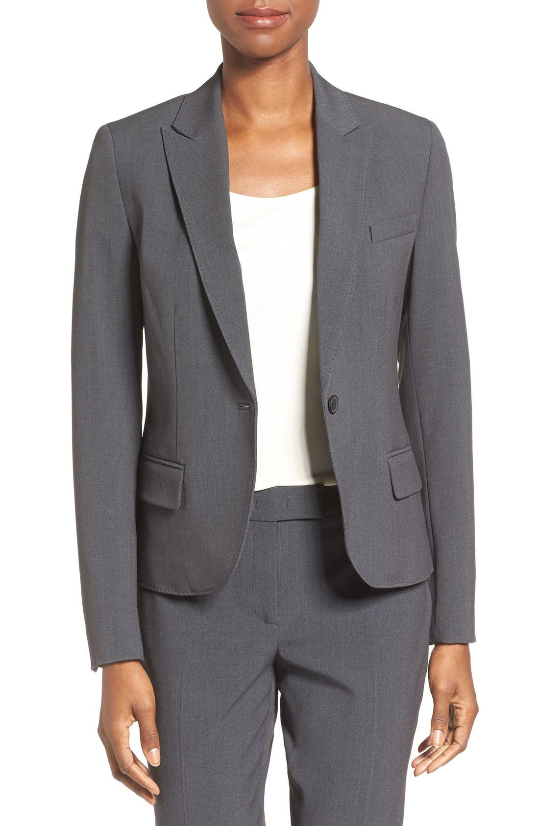 Anne Klein One-Button Suit Jacket