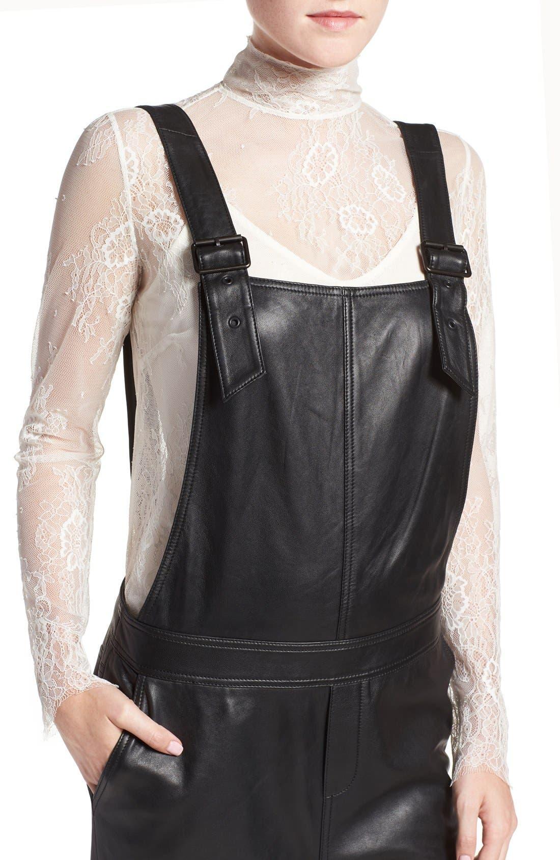 Alternate Image 5  - Olivia Palermo + Chelsea28 Leather Overalls