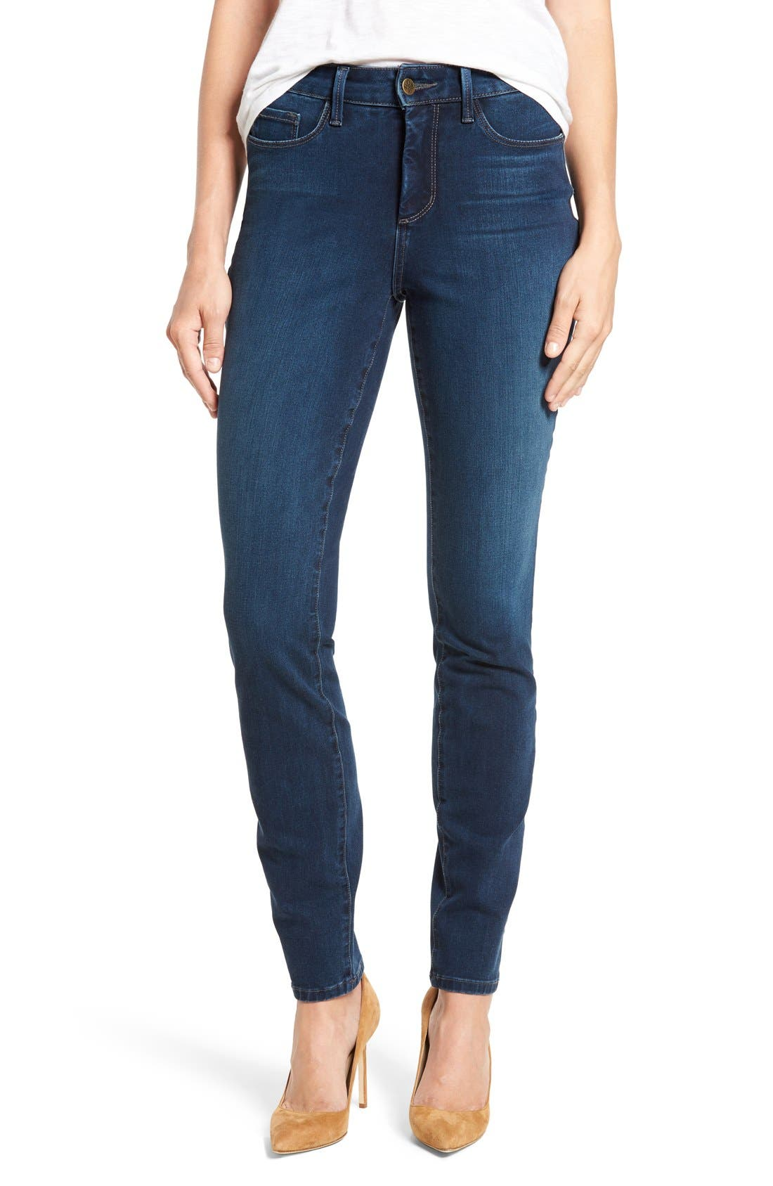 Alternate Image 1 Selected - NYDJ Alina Colored Stretch Skinny Jeans (Regular & Petite)