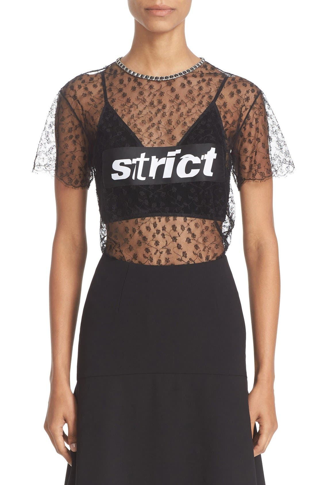 Alternate Image 2  - Alexander Wang 'Strict' Lace Tee