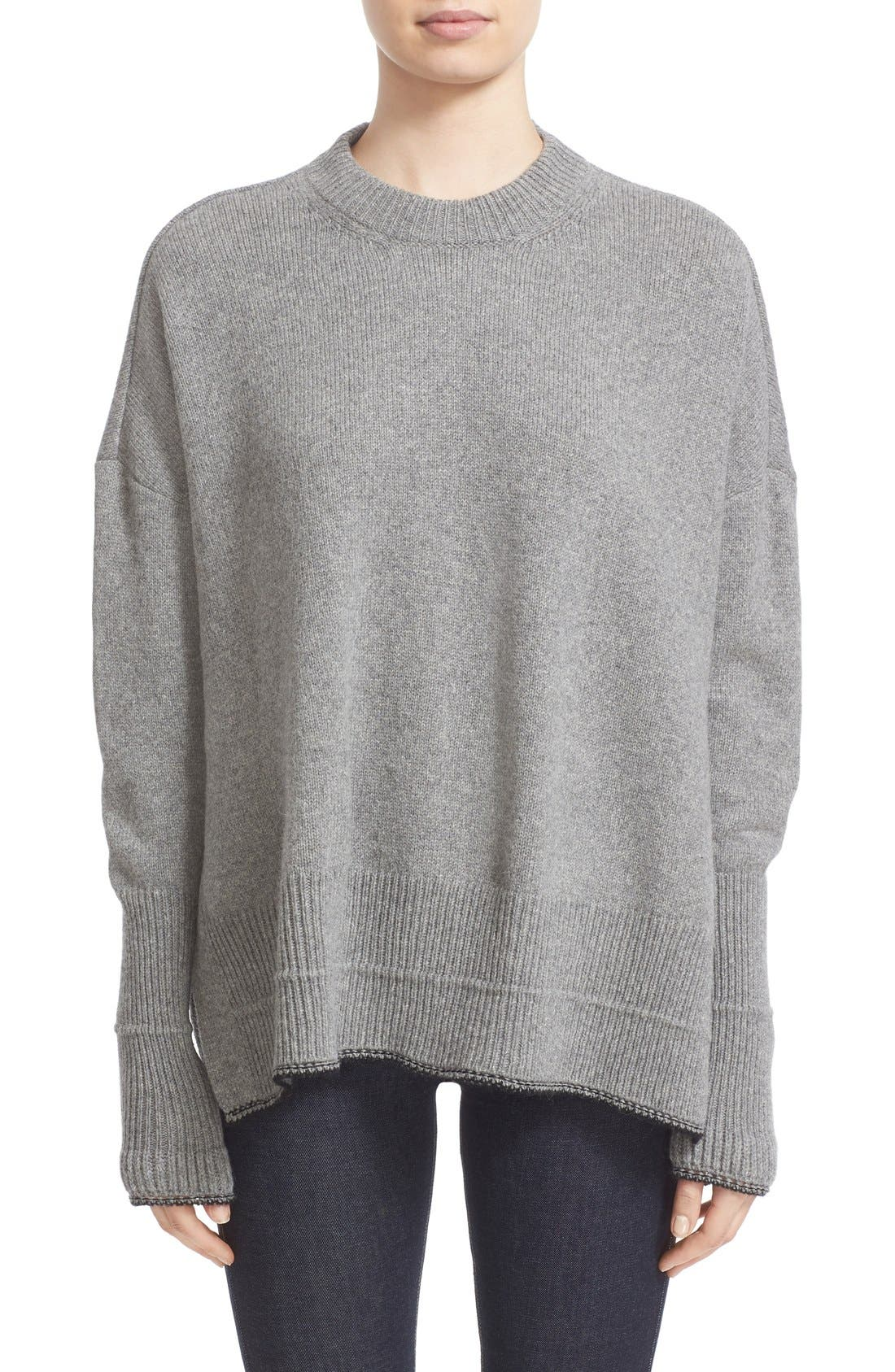 GIVENCHY Side Slit Alpaca & Wool Sweater