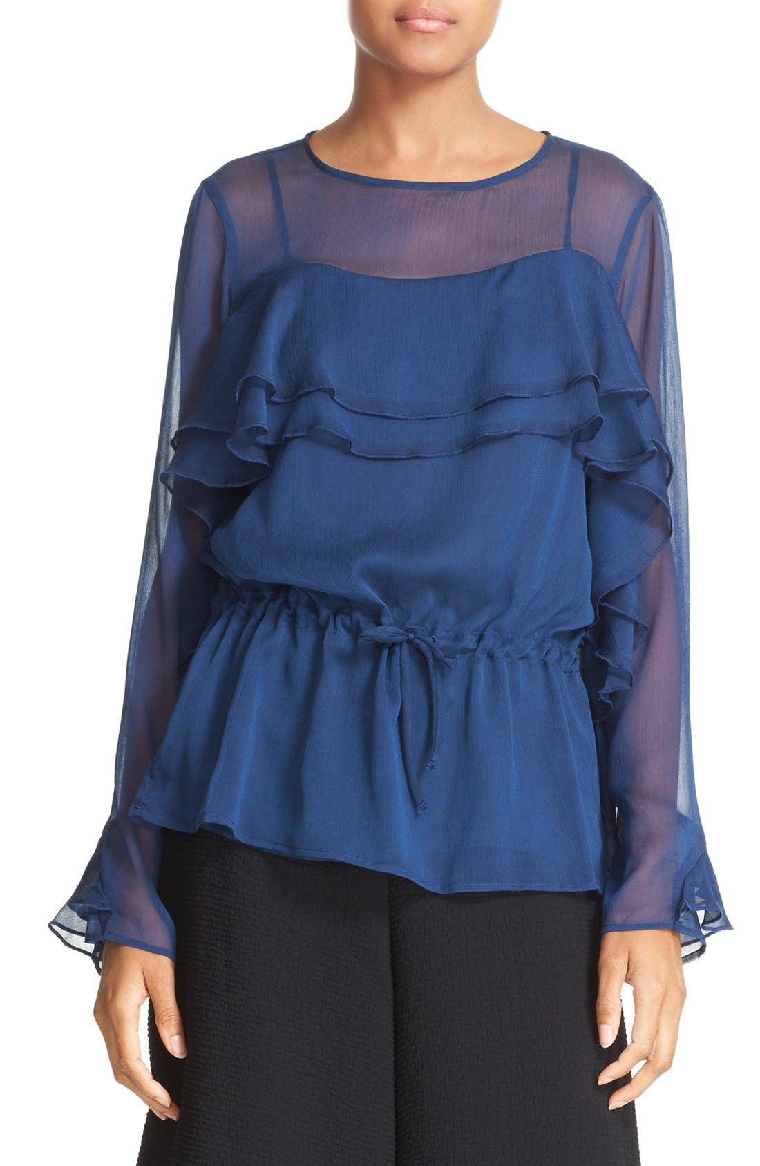 SEE BY CHLOÉ Ruffle Georgette Top
