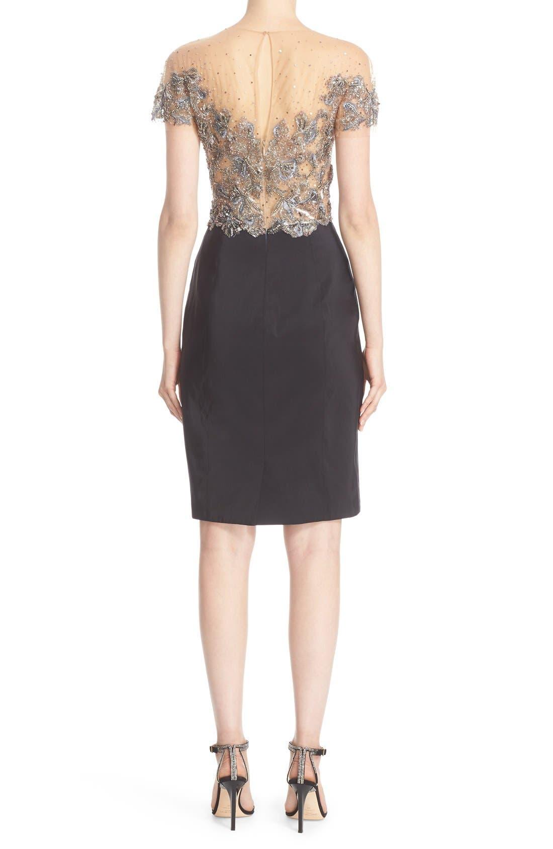 Alternate Image 2  - Marchesa Embellished Tulle Bodice Sheath Dress (Nordstrom Exclusive)