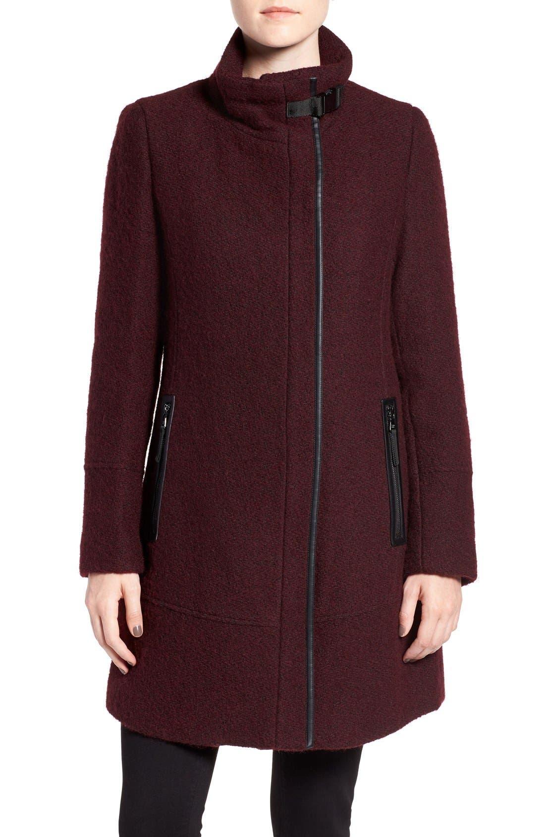 Alternate Image 4  - Calvin Klein Wool Blend Bouclé Walking Jacket (Regular & Petite)