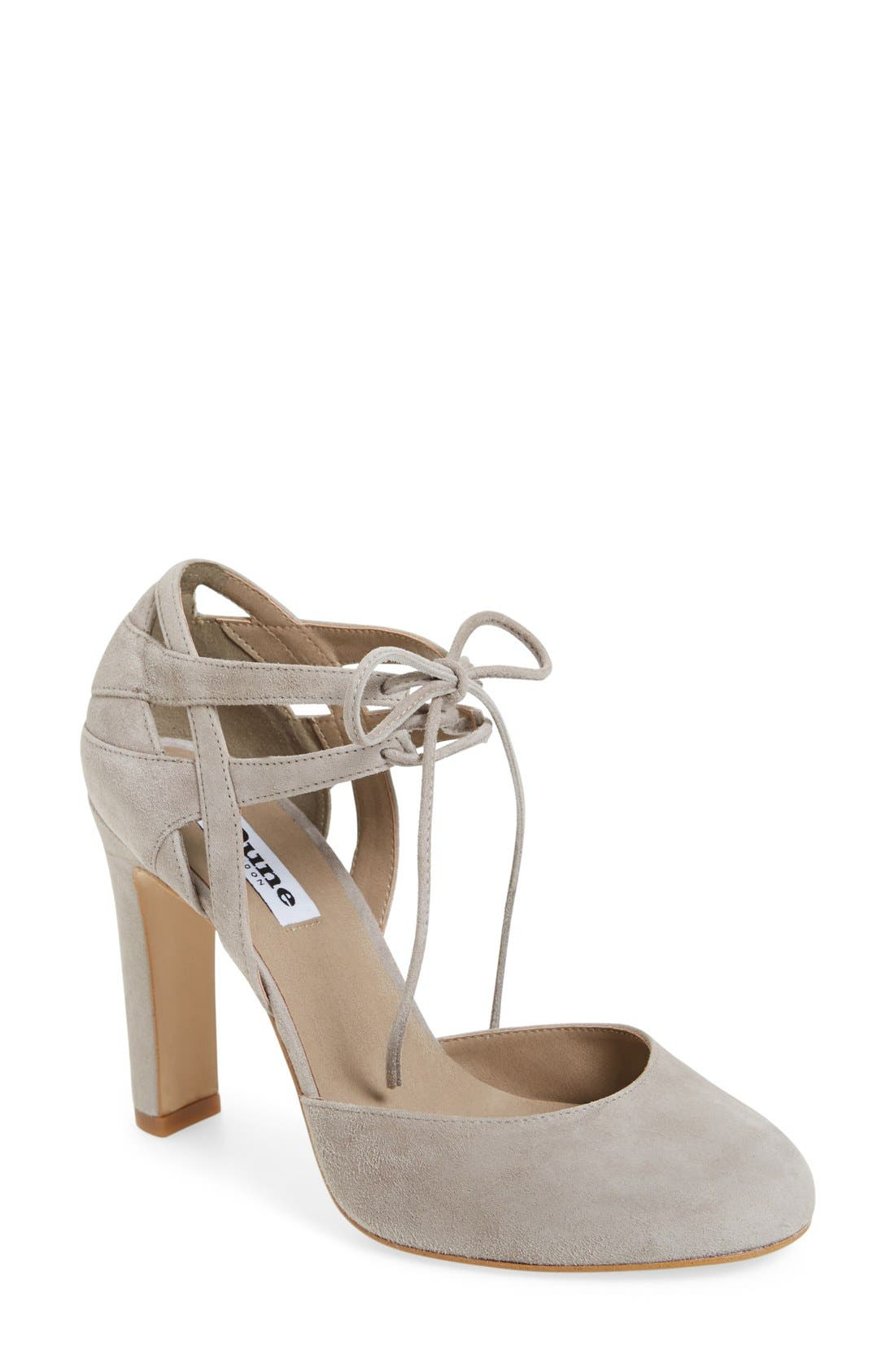 Alternate Image 1 Selected - Dune London 'Cannes' Lace Up d'Orsay Pump (Women)