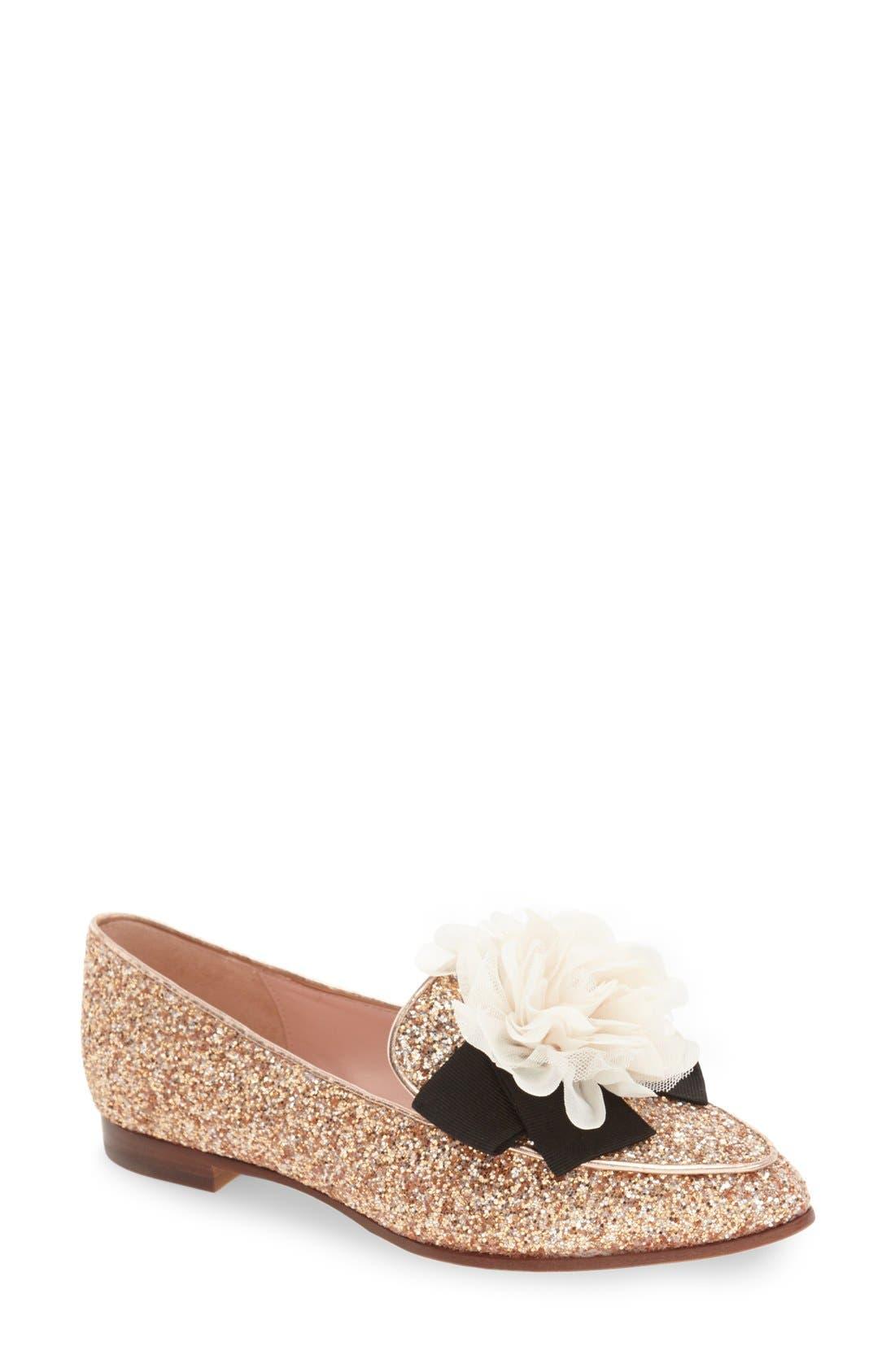 Alternate Image 1 Selected - kate spade new york 'cinda' flower loafer (Women)