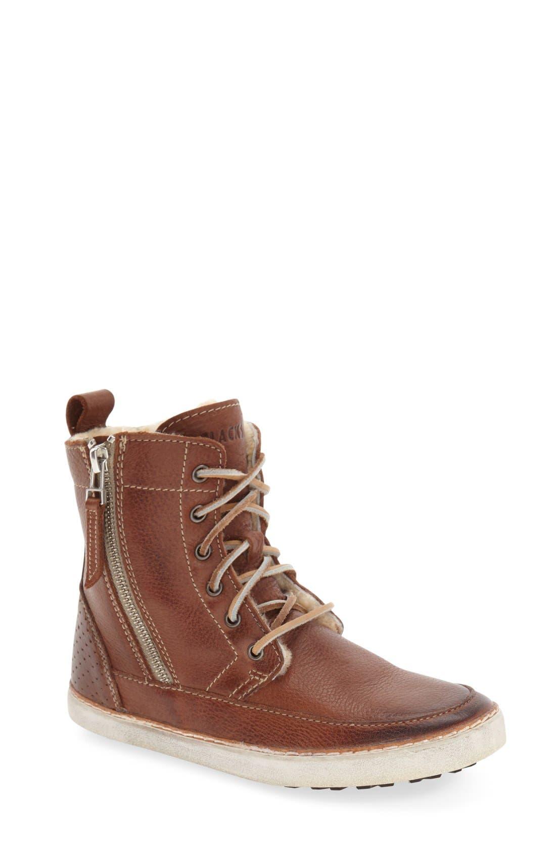 Blackstone 'CW96' Genuine Shearling Lined Sneaker Boot (Women)