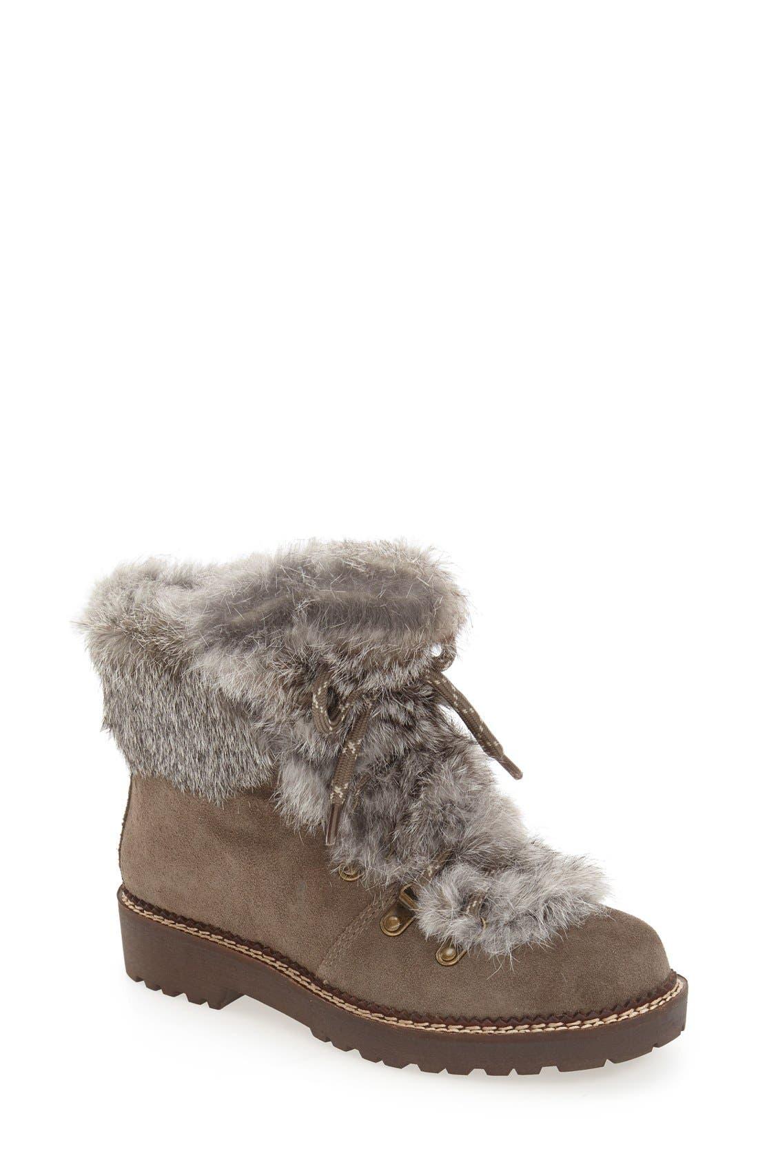 Arturo Chiang 'Philippa' Genuine Rabbit Fur Hiking Boot (Women)