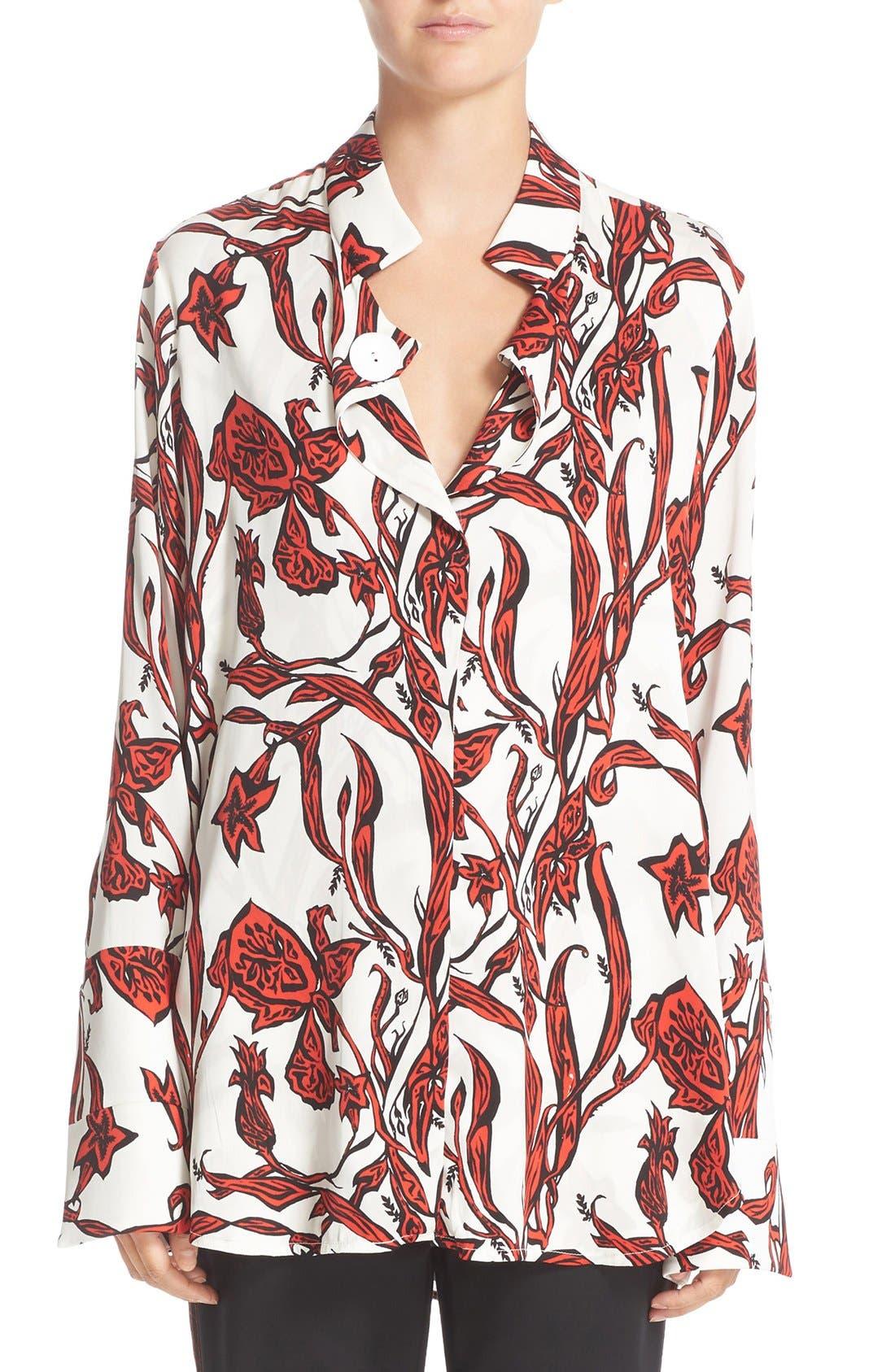ELLERY Visual Wonder Stretch Silk Blouse