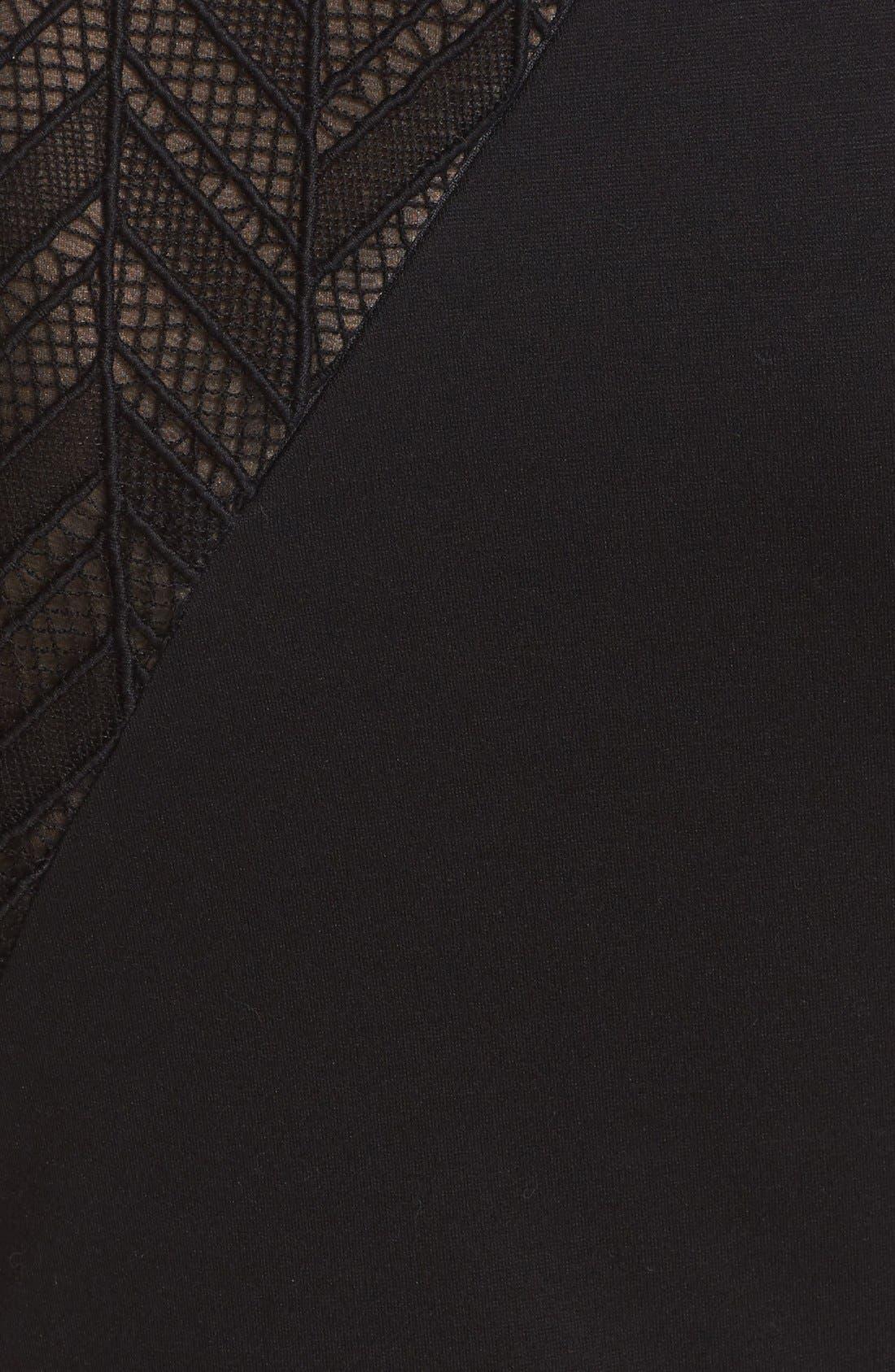 Alternate Image 3  - Jason Wu Chevron Lace & Ponte Knit Asymmetric Dress