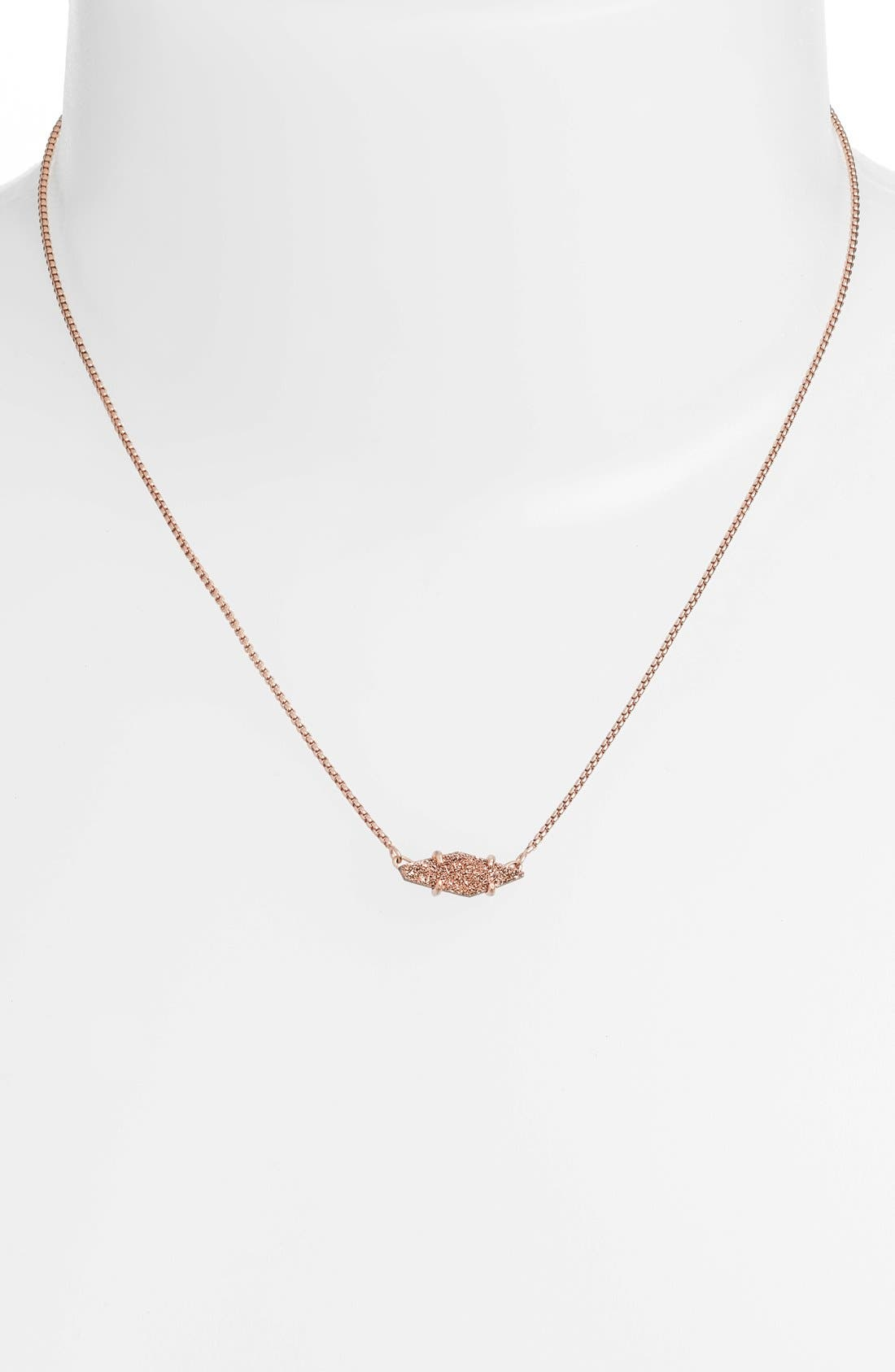 Alternate Image 2  - Kendra Scott 'Bridgete' Drusy Pendant Necklace