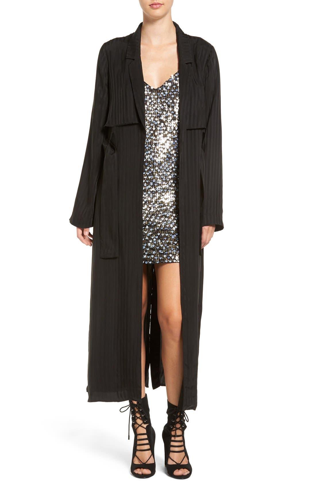 Main Image - KENDALL + KYLIE 'Tuxedo' Long Stripe Jacket