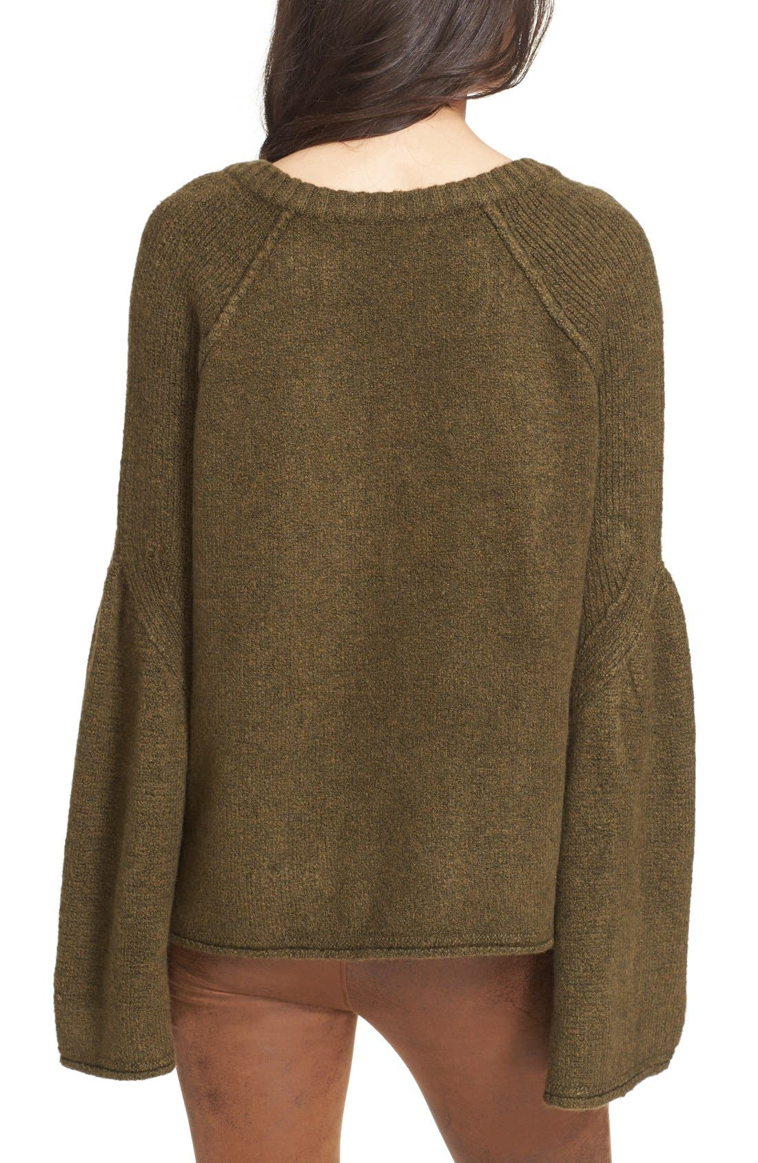 Alternate Image 3  - Free People Lovely Lines Bell Sleeve Sweater