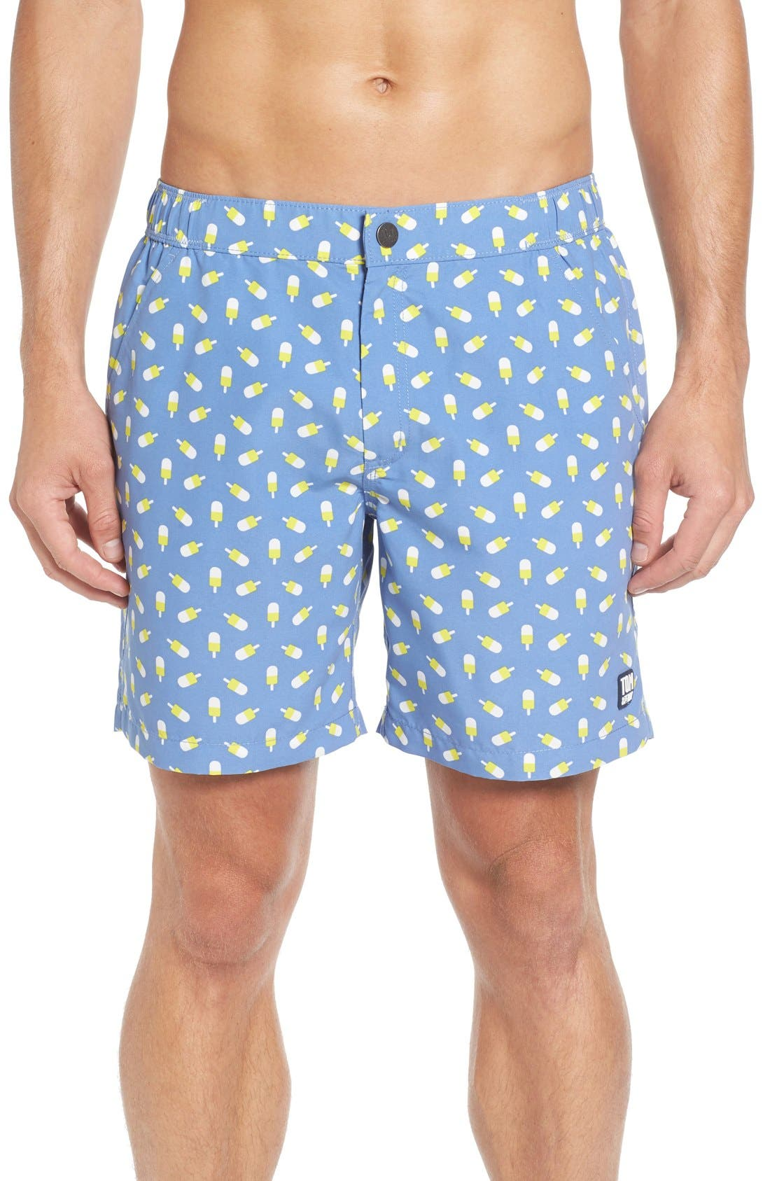 TOM & TEDDY Ice Lolly Print Swim Trunks