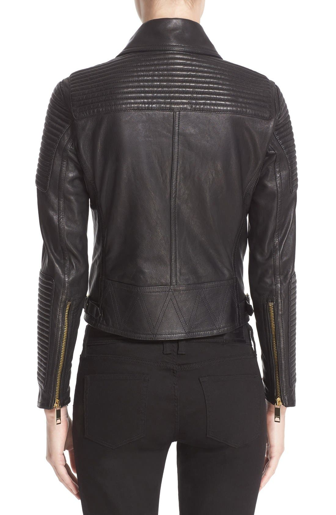 Alternate Image 2  - Burberry Brit 'Colefield' Double Breasted Leather Jacket