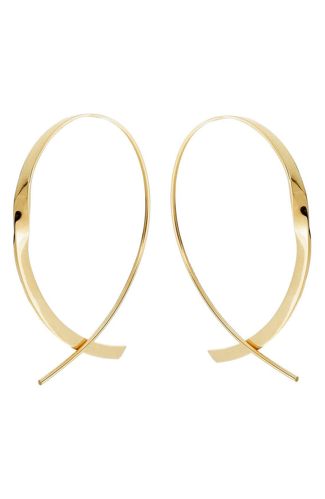 LANA JEWELRY 'Flat Upside Down ' Hoop Earrings