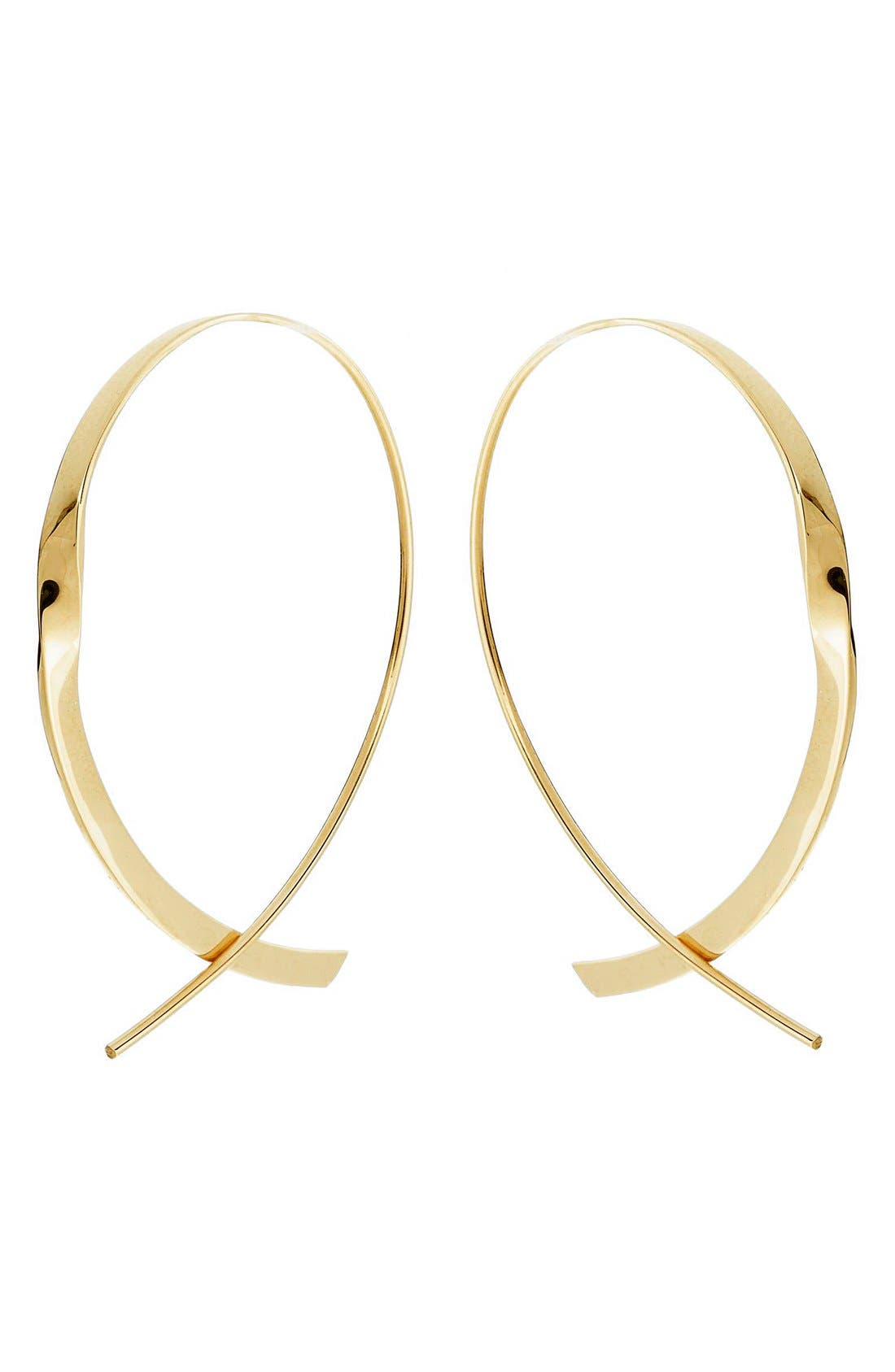 Lana Jewelry 'Flat Upside Down ' Hoop Earrings