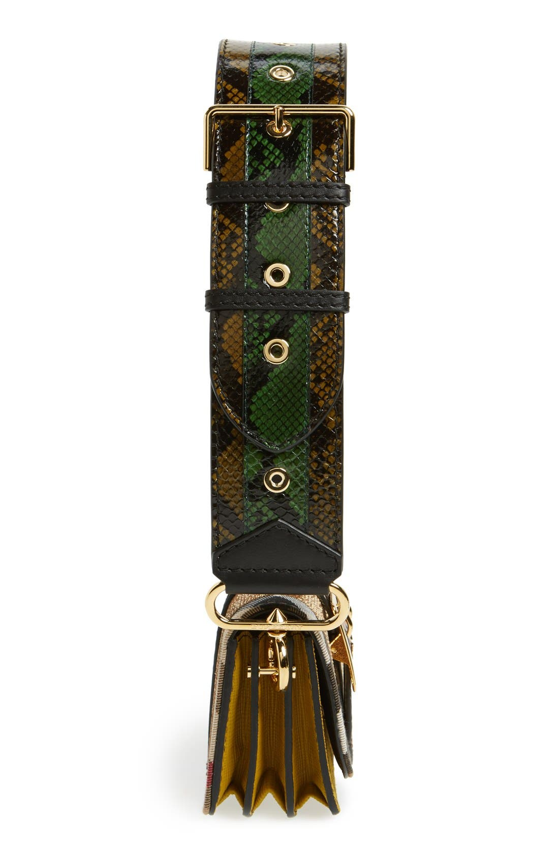 Alternate Image 6  - Burberry 'Belt Bag' Mixed Finish Convertible Clutch with Genuine Snakeskin Trim