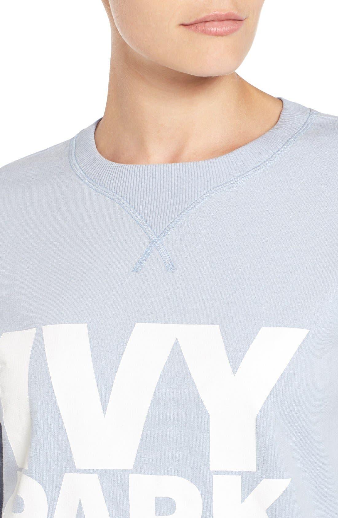 Alternate Image 4  - IVY PARK® Logo Peached Sweatshirt