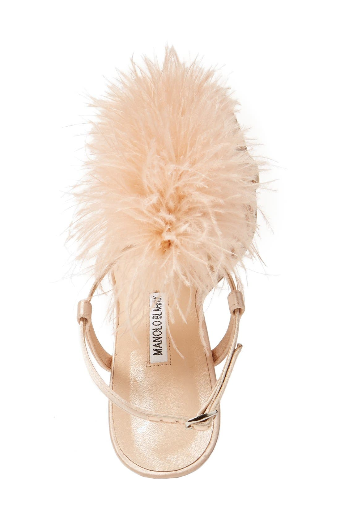 Alternate Image 3  - Manolo Blahnik Eila T-Strap Sandal (Women)