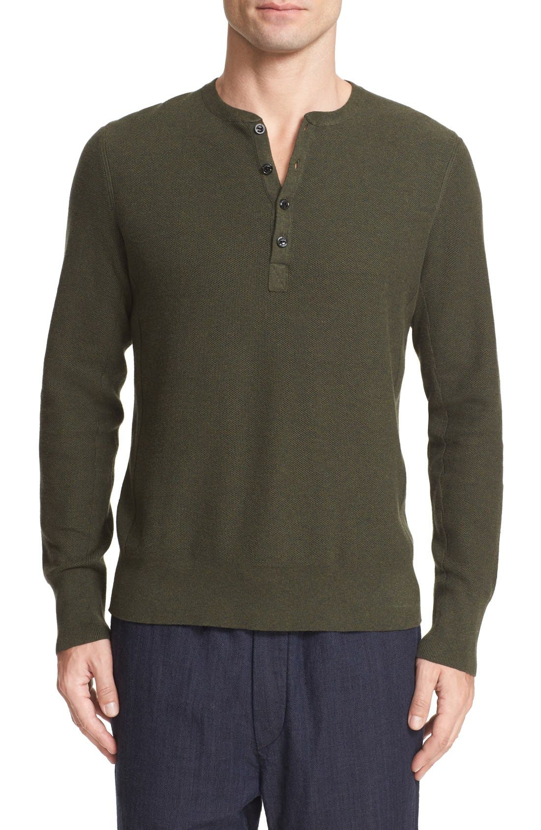RAG & BONE Jenson Honeycomb Knit Henley