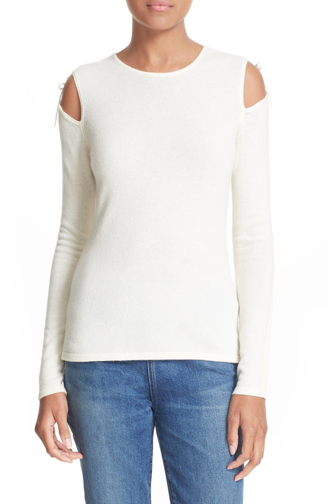 ELIZABETH AND JAMES Ryan Tie Cold Shoulder Sweater