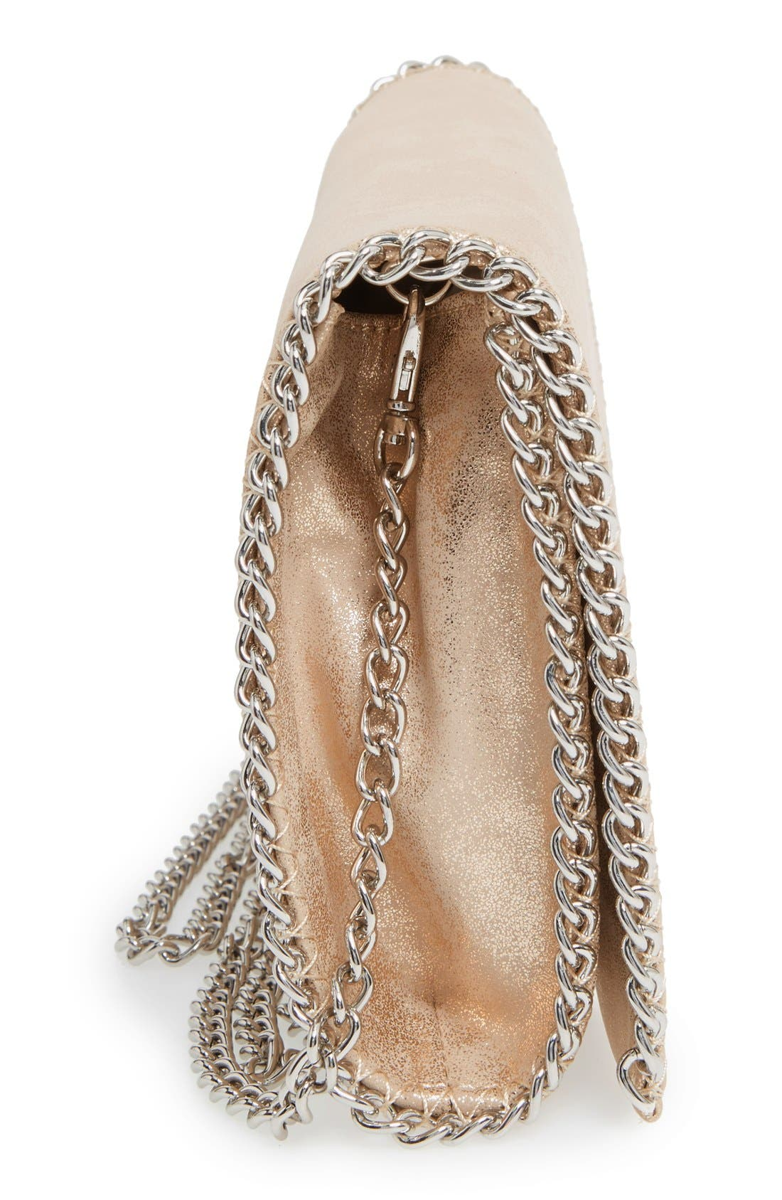Alternate Image 5  - Chelsea28 Faux Leather Clutch