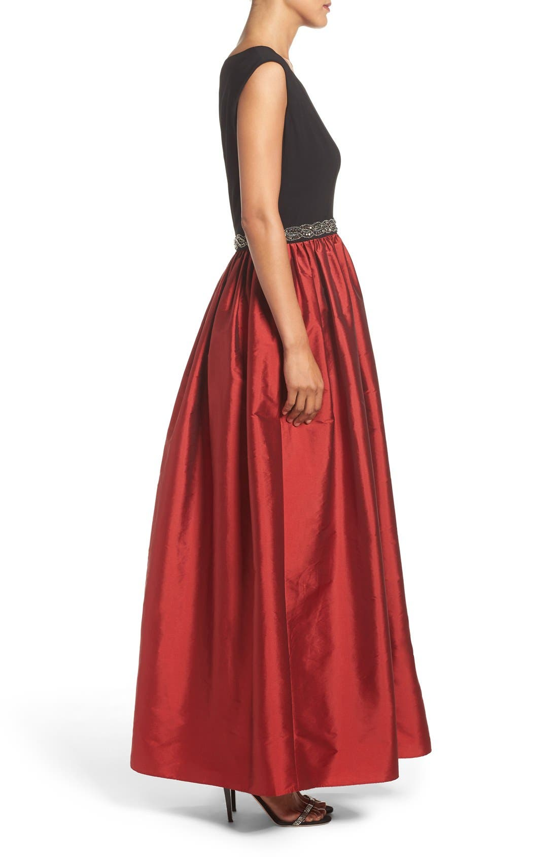 Alternate Image 3  - Alex Evenings Beaded Woven Fit & Flare Gown