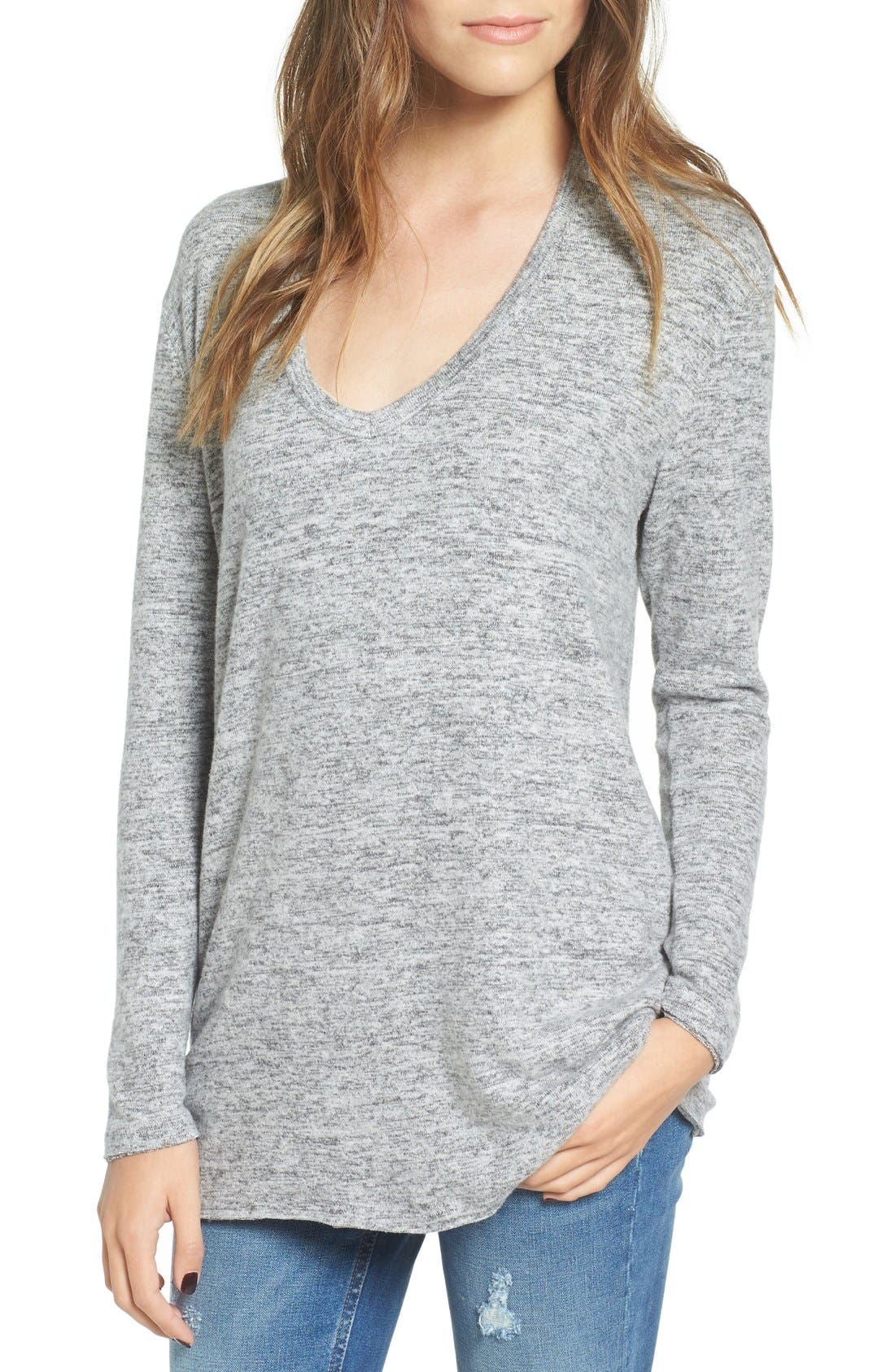 BP. V-Neck Long Sleeve Sweater