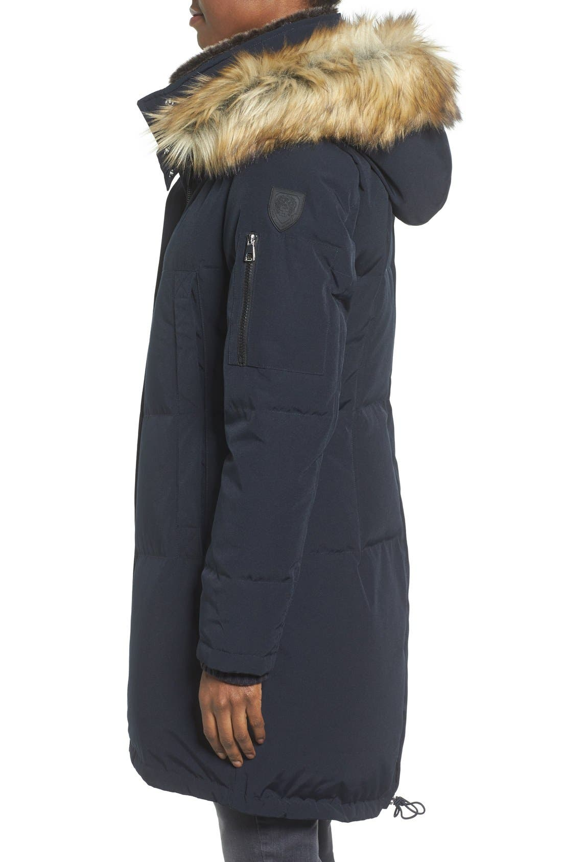 Alternate Image 3  - Vince Camuto Down & Feather Fill Parka with Faux Fur Trims