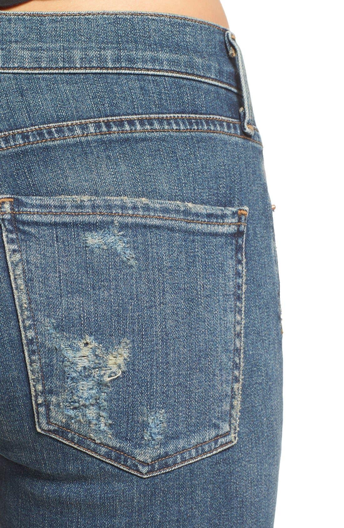 Alternate Image 5  - AGOLDE Sophie Crop High Rise Skinny Jeans (Santa Fe) (Women)