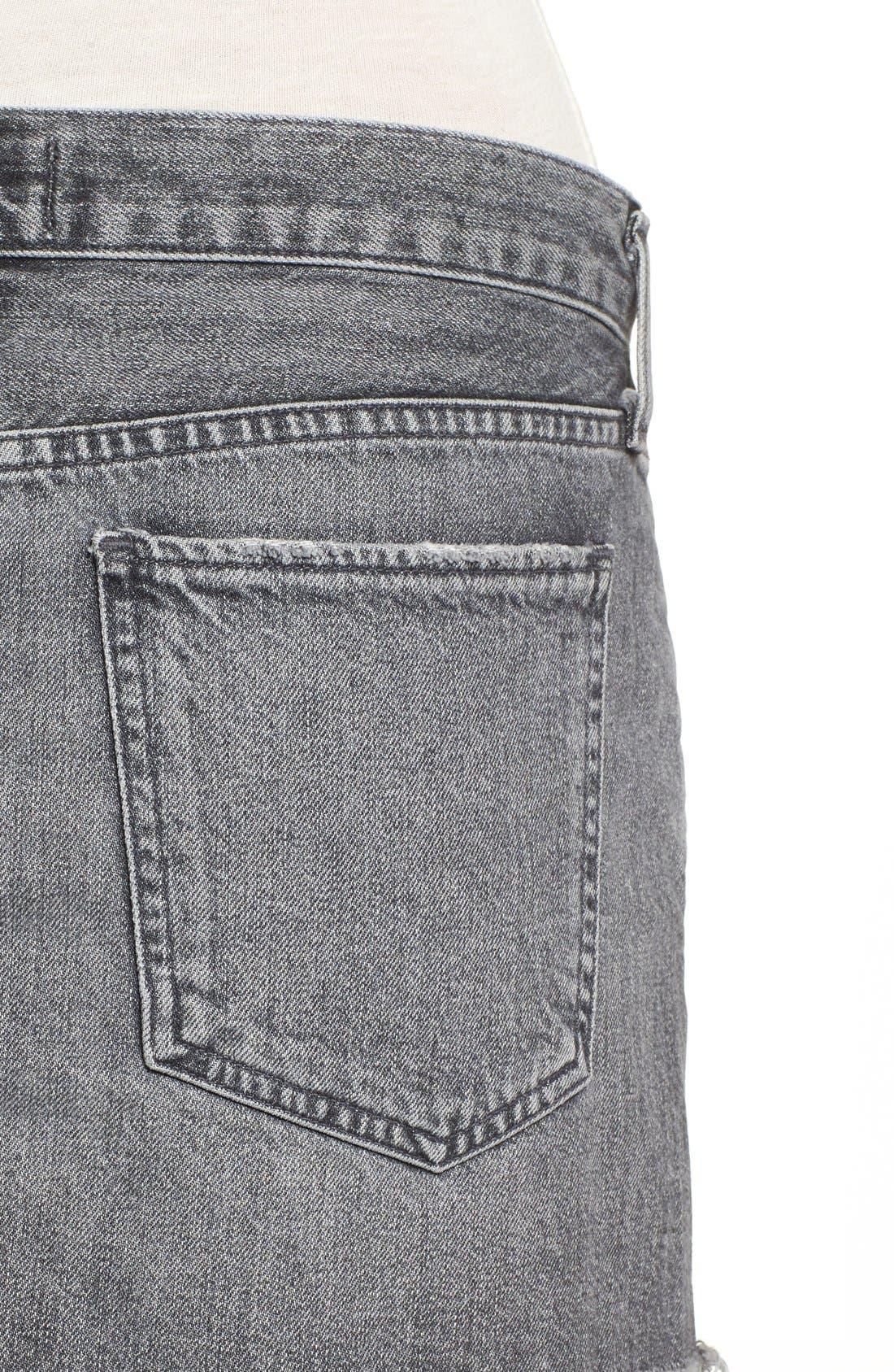 Alternate Image 5  - AGOLDE Jeanette Denim Miniskirt