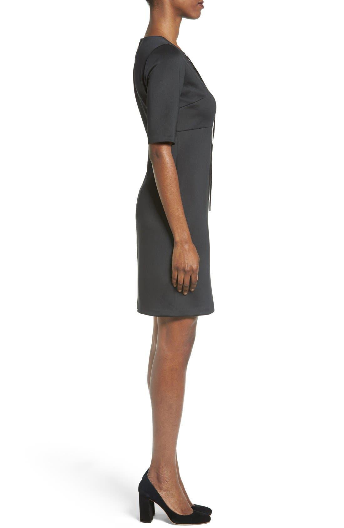 Alternate Image 3  - Catherine Catherine Malandrino 'Shaw' Lace-Up Sheath Dress