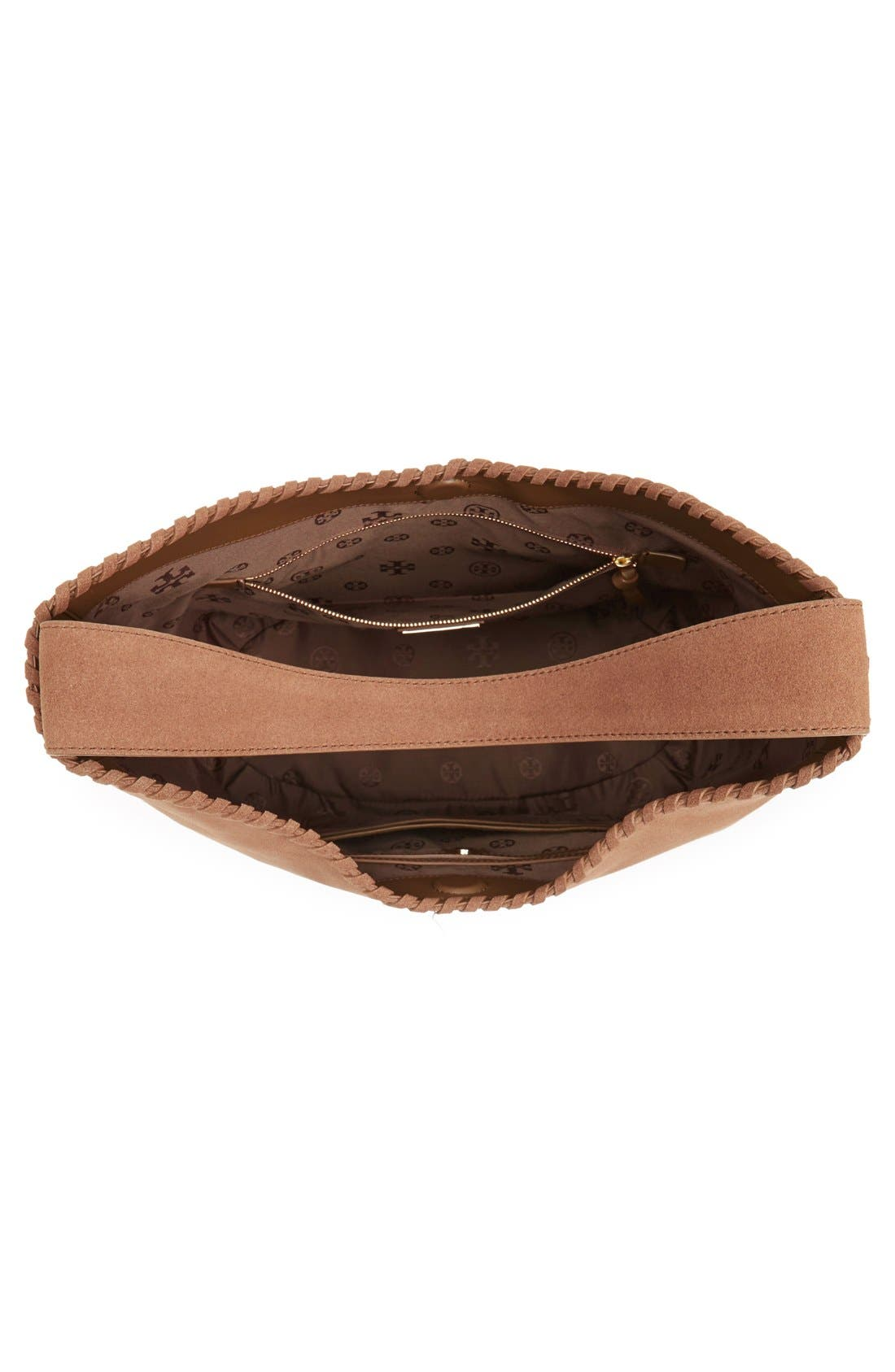 Alternate Image 4  - Tory Burch 'Marion' Suede Hobo