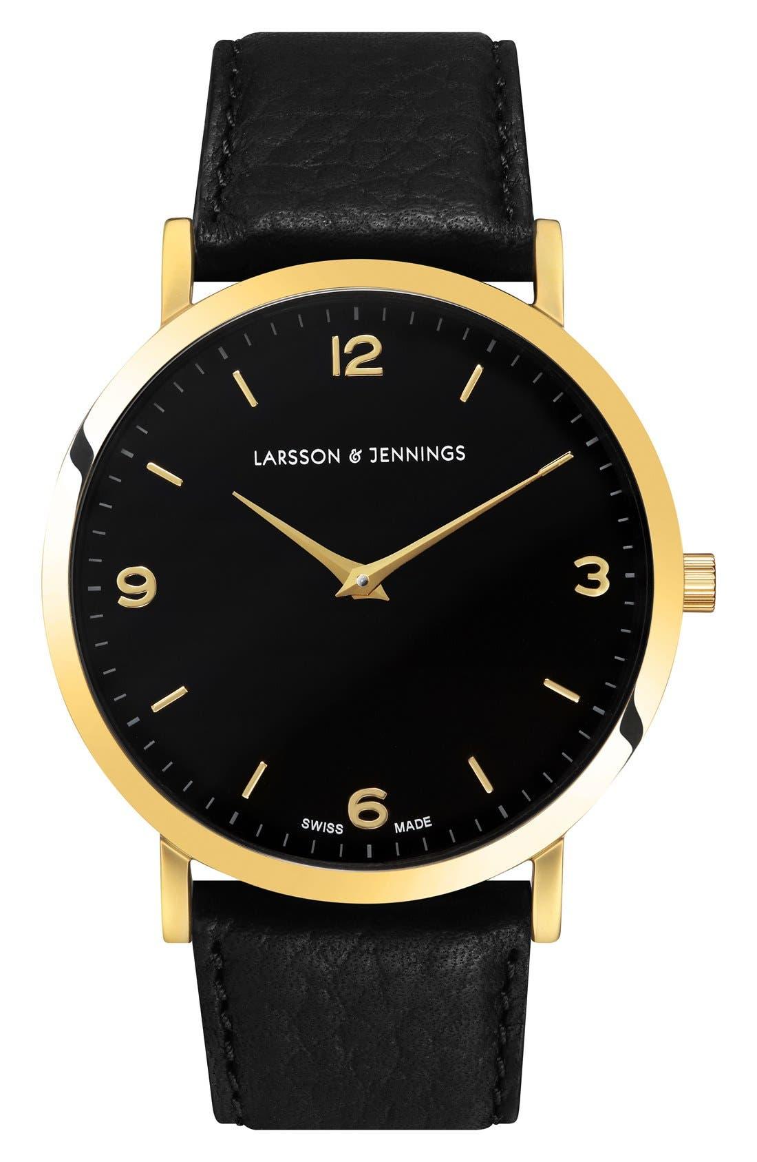 Larsson & Jennings Lugano Leather Strap Watch, 38mm