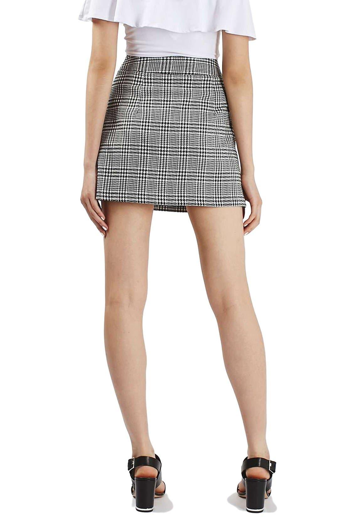Alternate Image 3  - Topshop Houndstooth Miniskirt