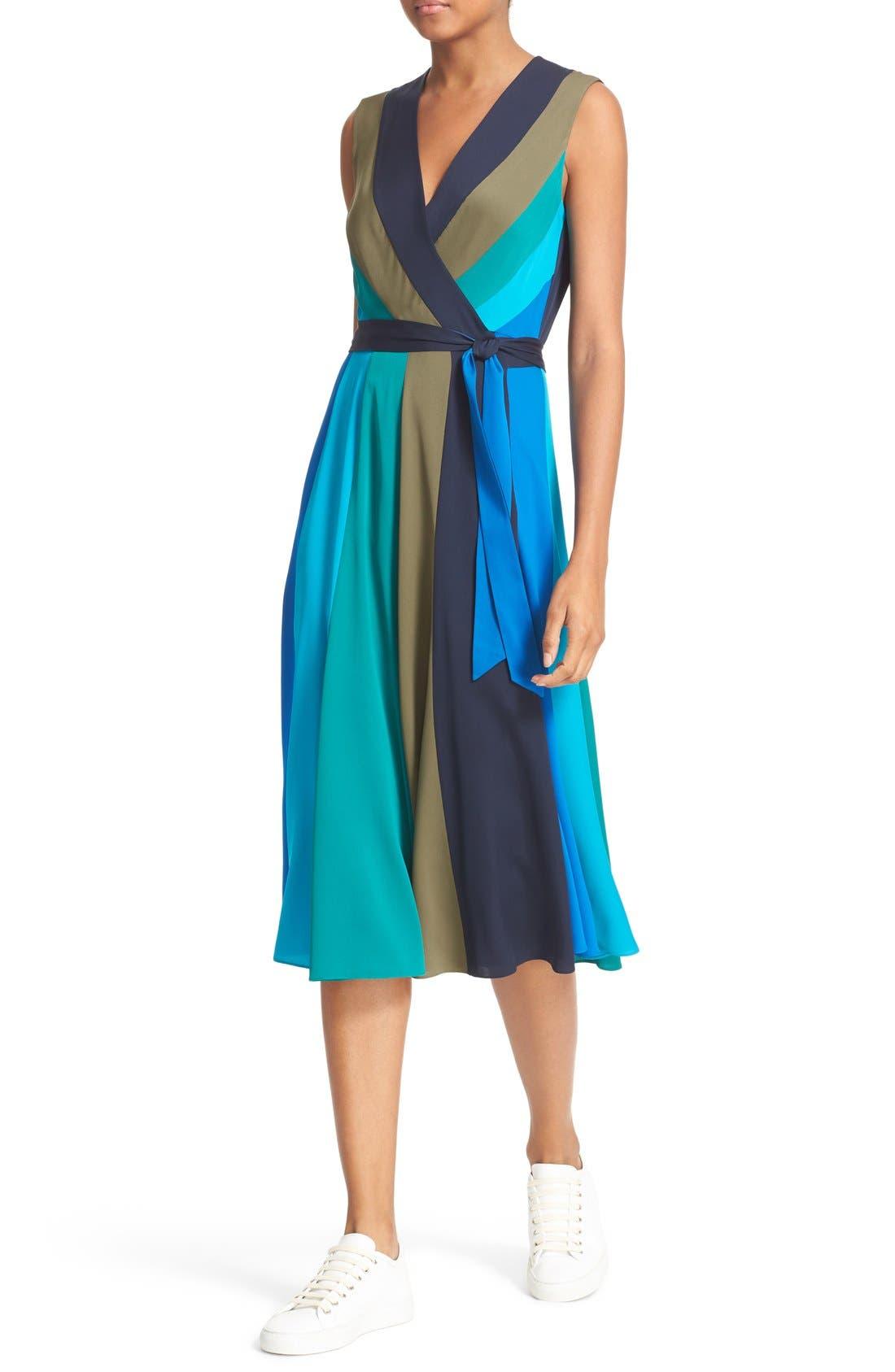 Alternate Image 4  - Diane von Furstenberg Penelope Colorblock Wrap Fit & Flare Dress