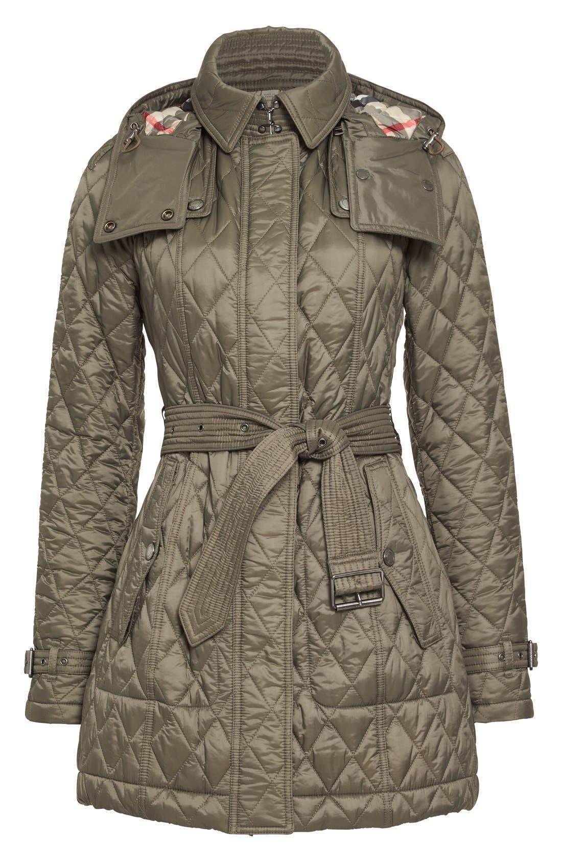 Alternate Image 4  - Burberry Finsbridge Belted Quilted Jacket