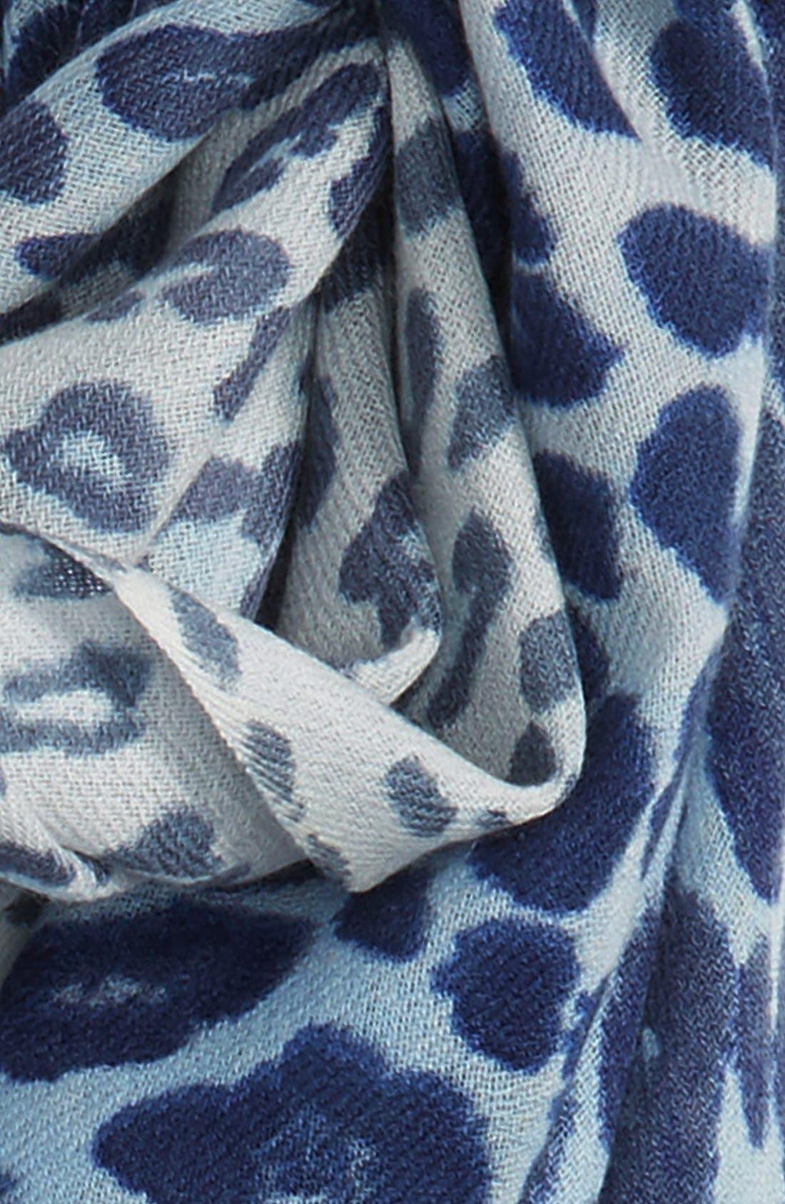 Alternate Image 3  - Nordstrom Animal Print Wool & Cashmere Wrap