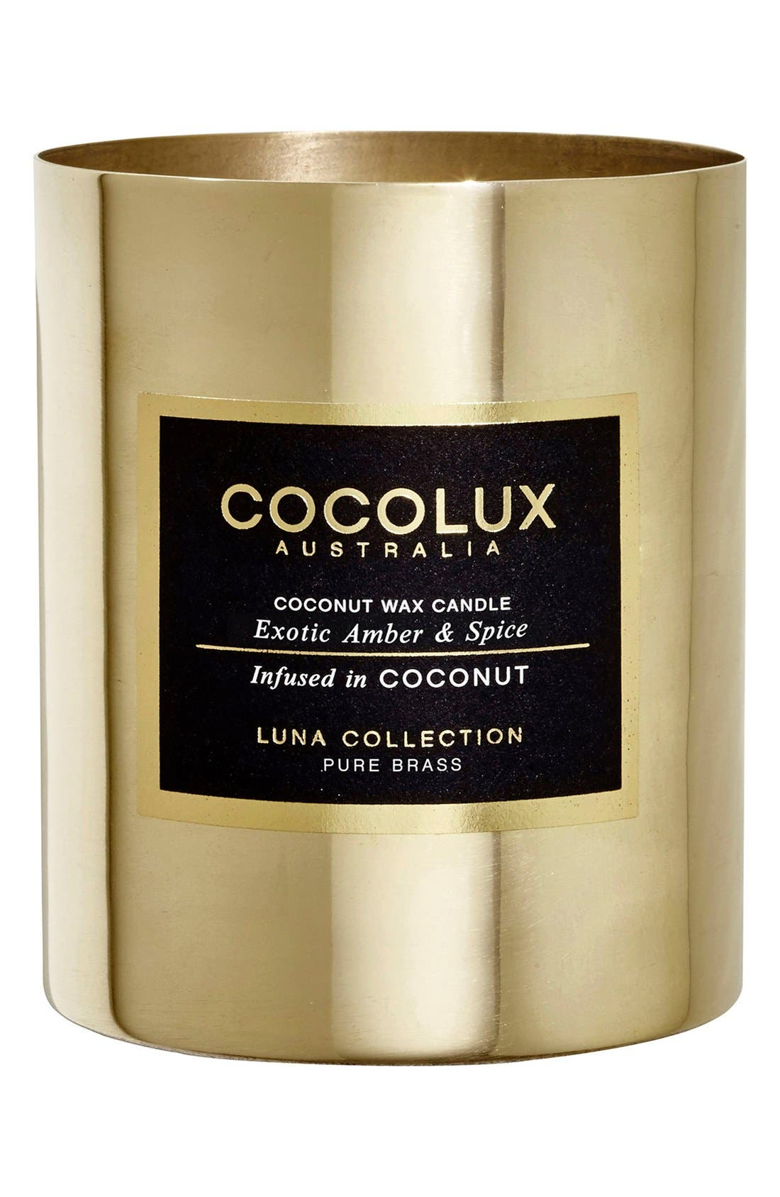 Cocolux Australia Exotic Amber & Spice Brass Candle