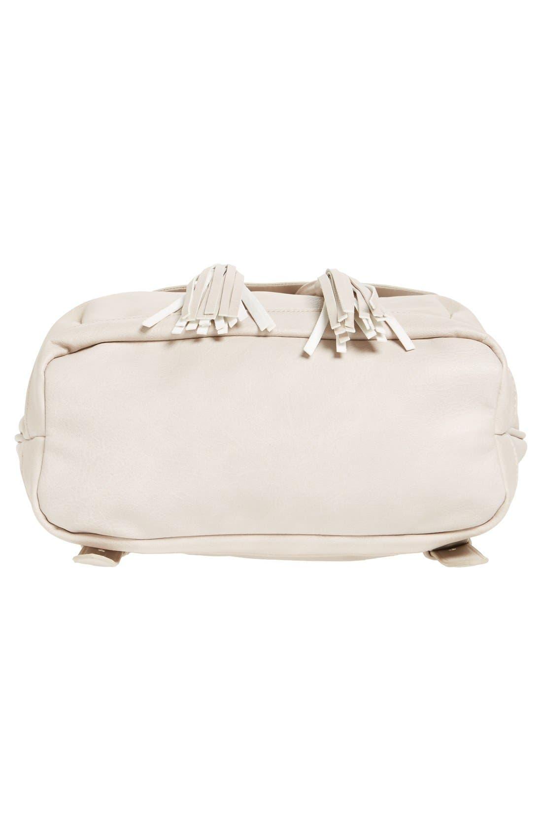Alternate Image 5  - BP. Tassel Flap Faux Leather Backpack
