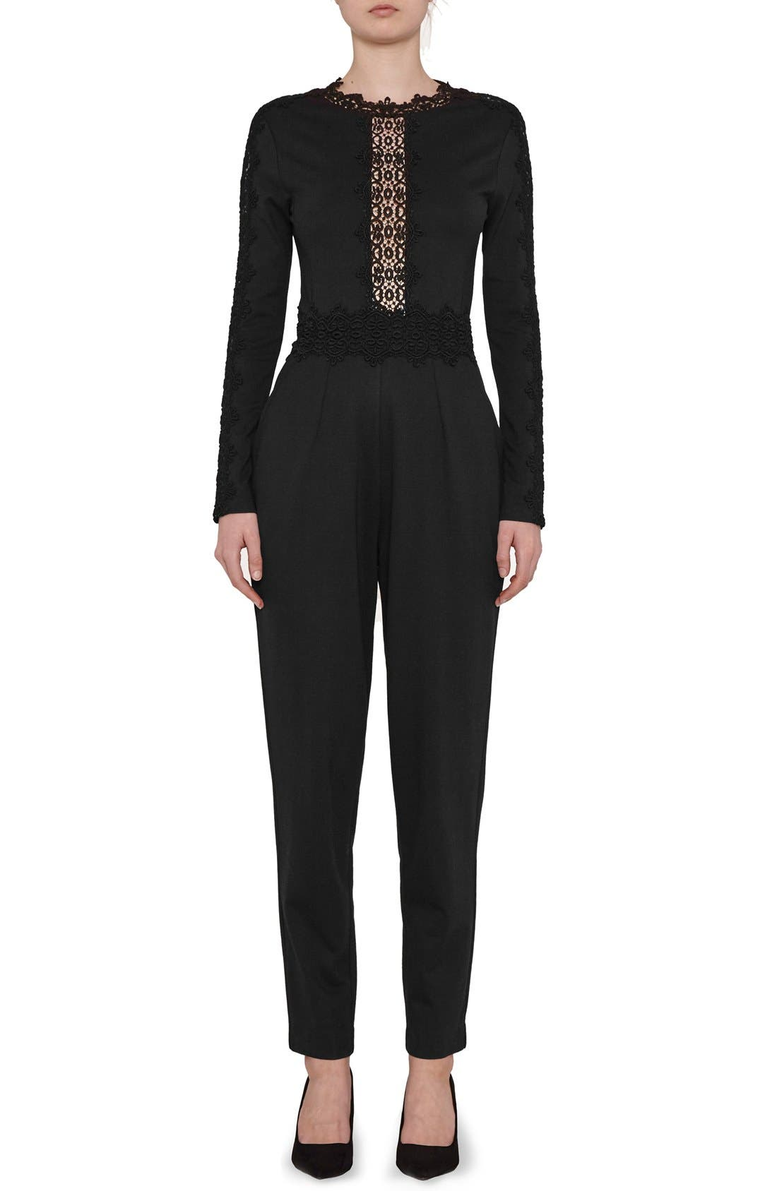 Main Image - French Connection Petra Lace Inset Jumpsuit